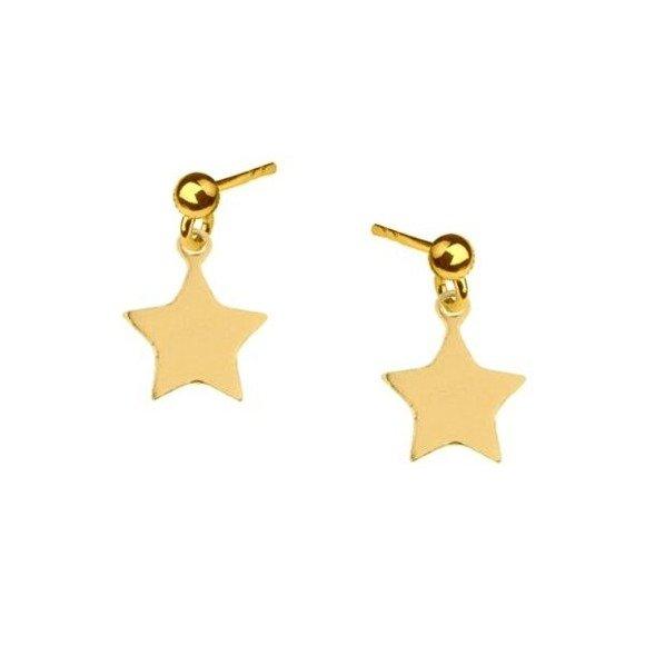 Hoop earrings with stars 925 gold-plated