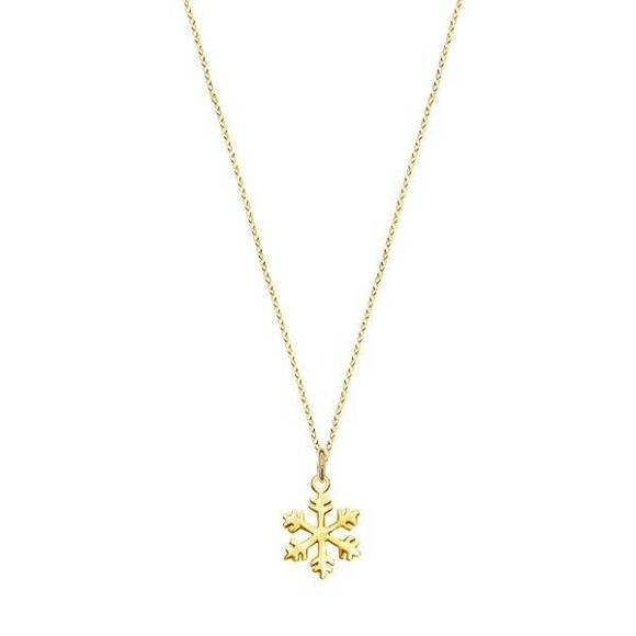 Minimal snowflake necklace gold-plated