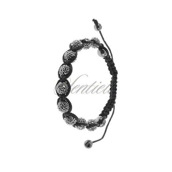 Rope bracelet (925) metallic grey and hematite