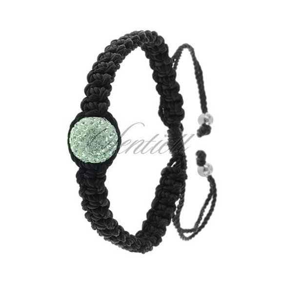 Rope bracelet (925) mint coloured 1 disco ball