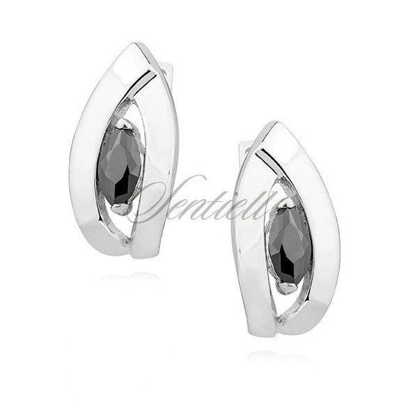 Silver (925) Earrings black zirconia