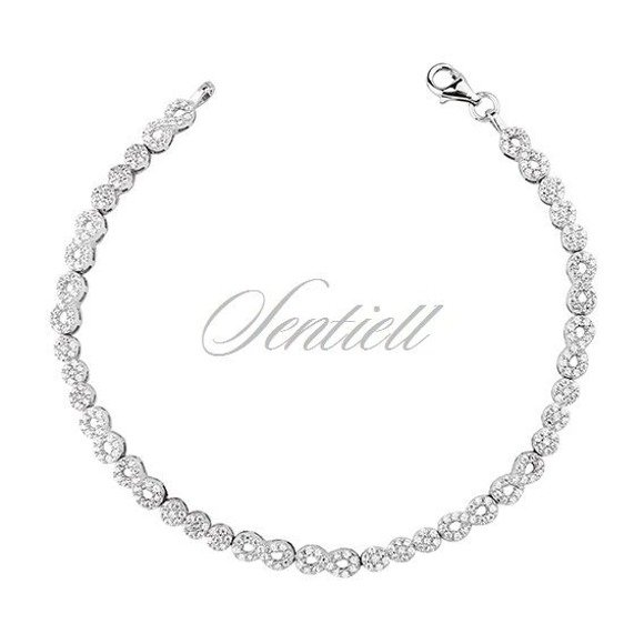 Silver (925) beauty bracelet with zirconia - infinity