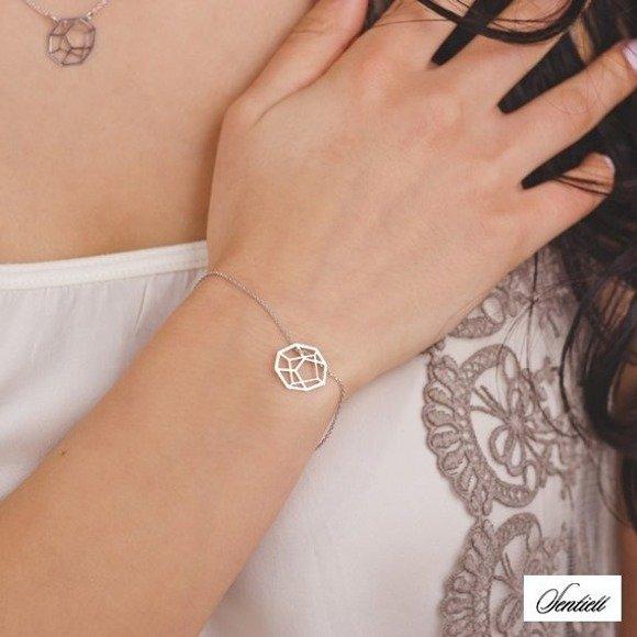 Silver (925) bracelet - Origami