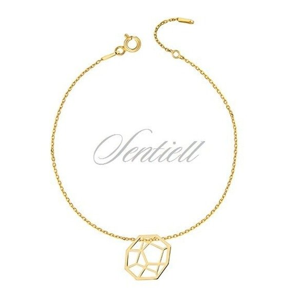 Silver (925) bracelet - Origami gold-plated