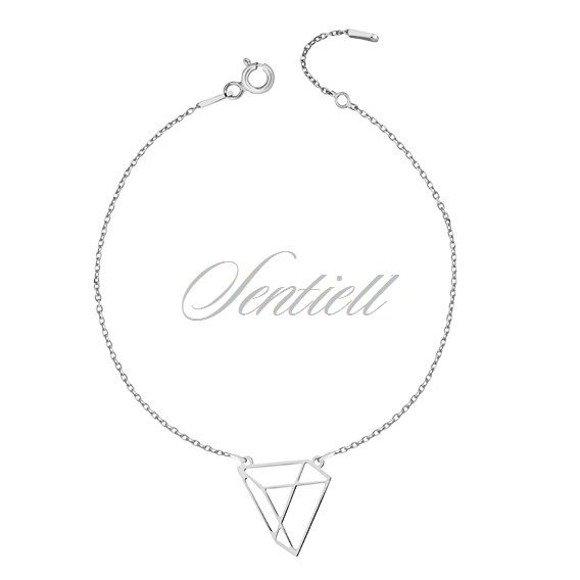 Silver (925) bracelet - Origami triangle