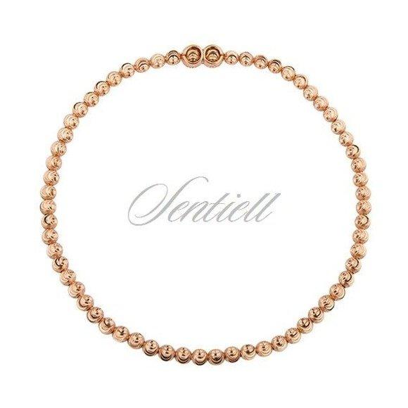 Silver (925) bracelet diamond-cut, rose gold-plated