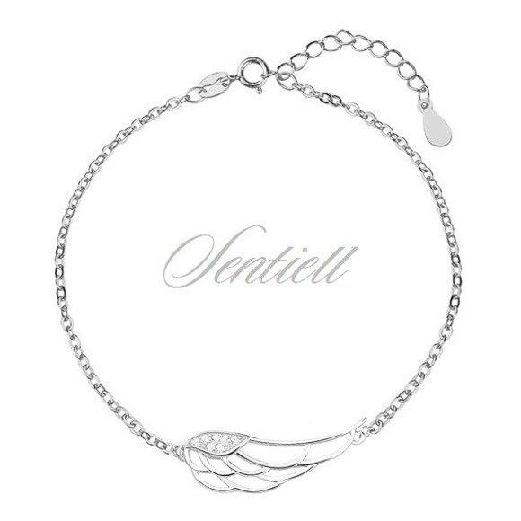 Silver (925) bracelet - wing with zirconia