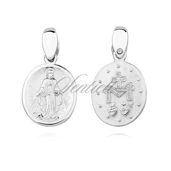 Silver (925) doublesided pendant - Miraculous Virgin Mary / Blessed Virgin Mary