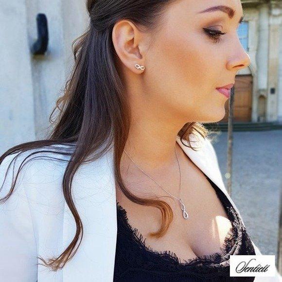 Silver (925) earrings Infinity