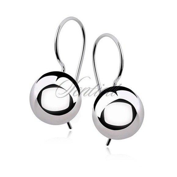 Silver (925) earrings balls 10mm