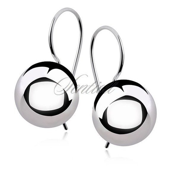 Silver (925) earrings balls 14mm