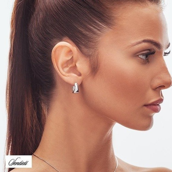 Silver (925) earrings - high polished
