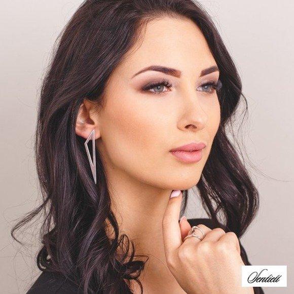 Silver (925) earrings - triangle