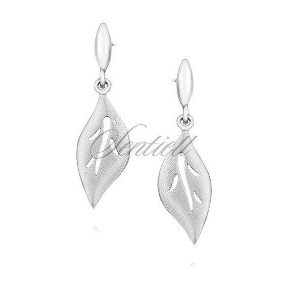Silver (925) elegant earrings - leafs