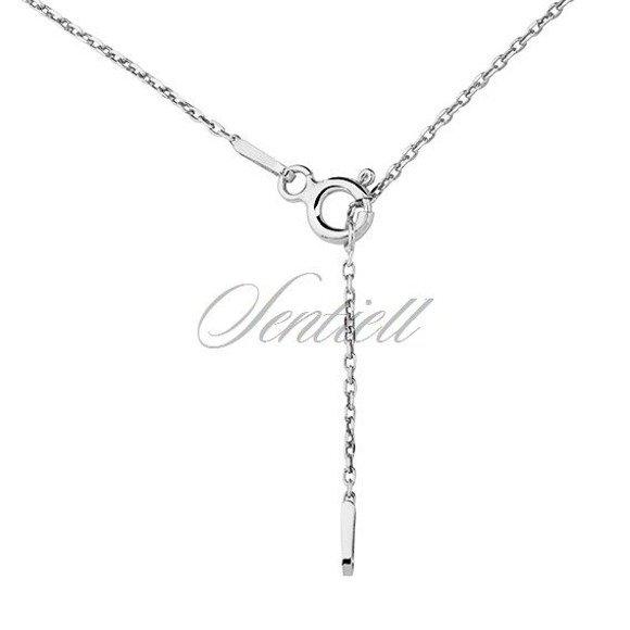 Silver (925) necklace - Origami triangle
