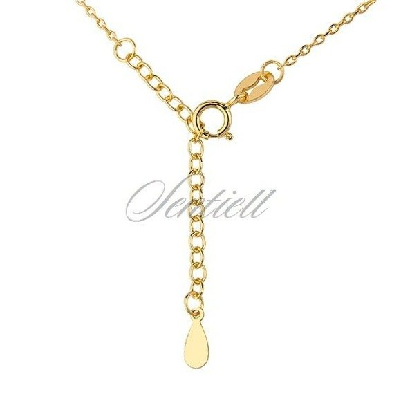 Silver (925) necklace - star with zirconia, gold-plated