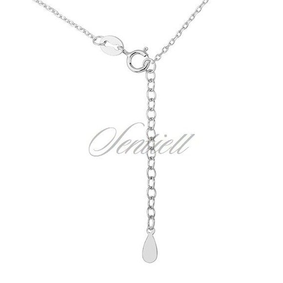 Silver (925) necklace - wing with zirconia