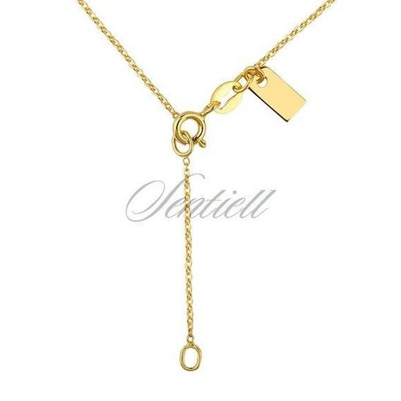 Silver (925) necklace withopen-work heart pendant - gold-plated