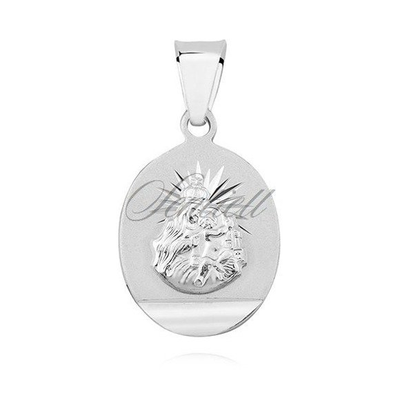 Silver (925) pendant - Jesus Christ / Scapular Mary