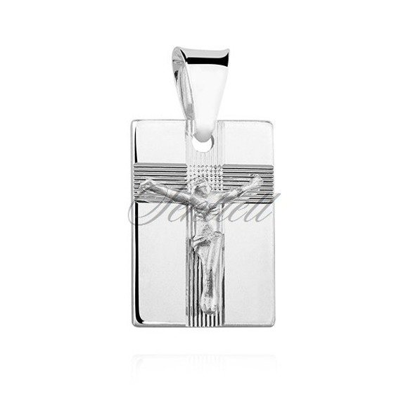 Silver (925) pendant Jesus on cross