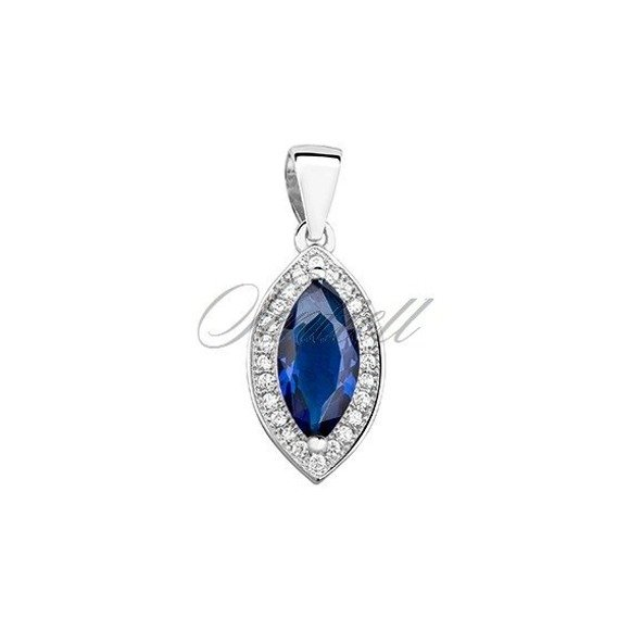 Silver (925) pendant with sapphire zirconia