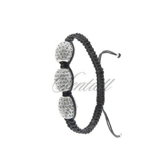 Bransoletka sznurkowa pr.925 Biała podłużna