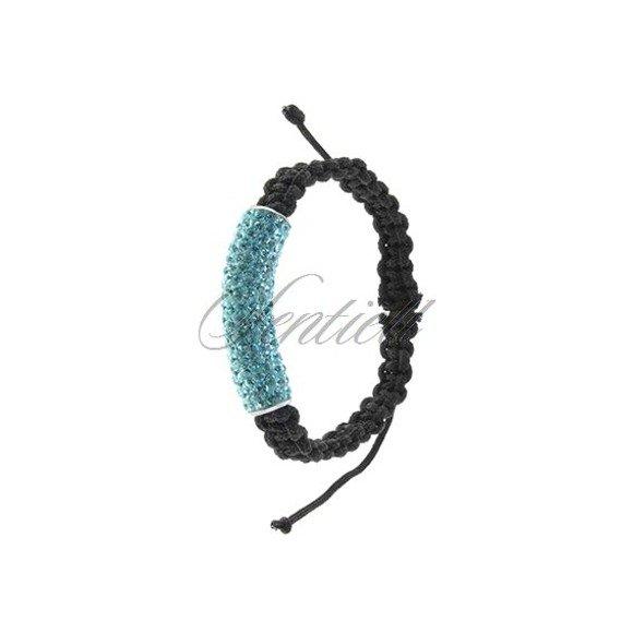 Bransoletka sznurkowa pr.925 błękitna tuba
