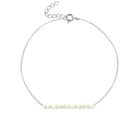 CZERWIEC - bransoletka srebrna z perłą