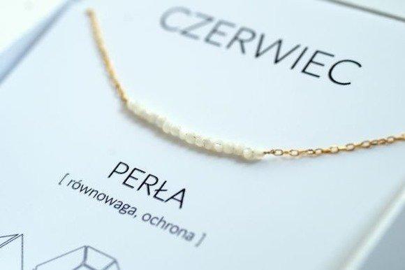 CZERWIEC - naszyjnik pozłacany z perłą