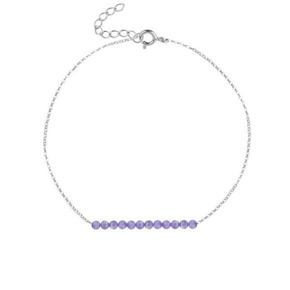LUTY - bransoletka srebrna z ametystem