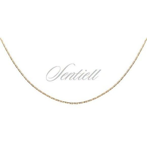 Łańcuszek srebrny 925  Cardano Ø 030 - złocony