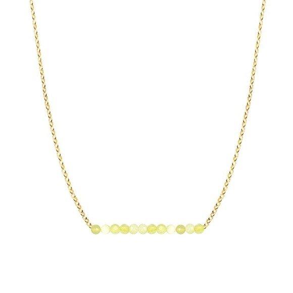 PAŻDZIERNIK - naszyjnik pozłacany z żółtym opalem