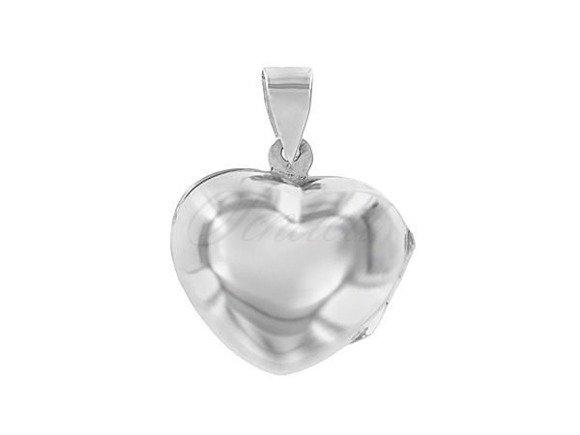 Srebrna zawieszka pr.925 Otwierane puzderko w kształcie serca
