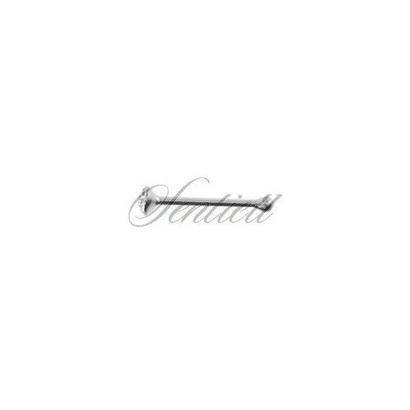 Srebrne kolczyki do nosa z cyrkonią pr.925 w opakowaniu