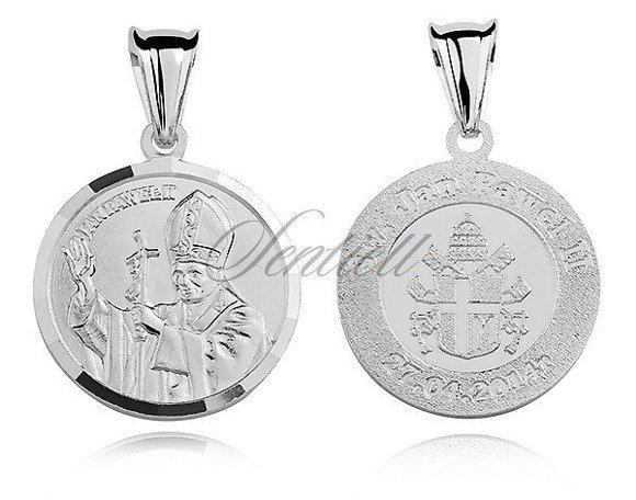 Srebrny medalik Święty Papież Jan Paweł II