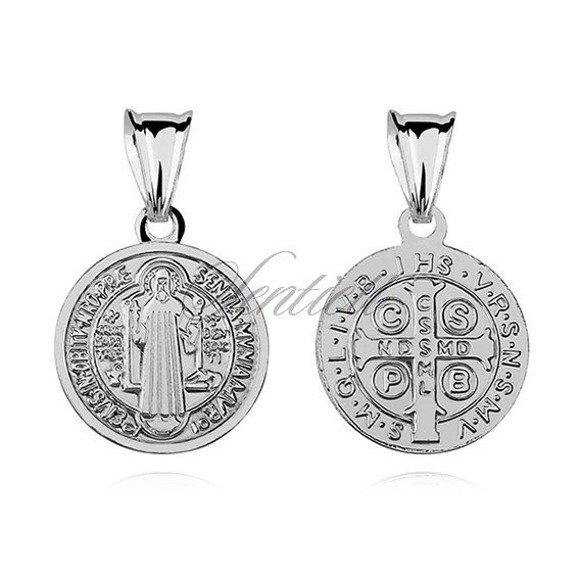 Srebrny medalik pr.925 Święty Benedykt