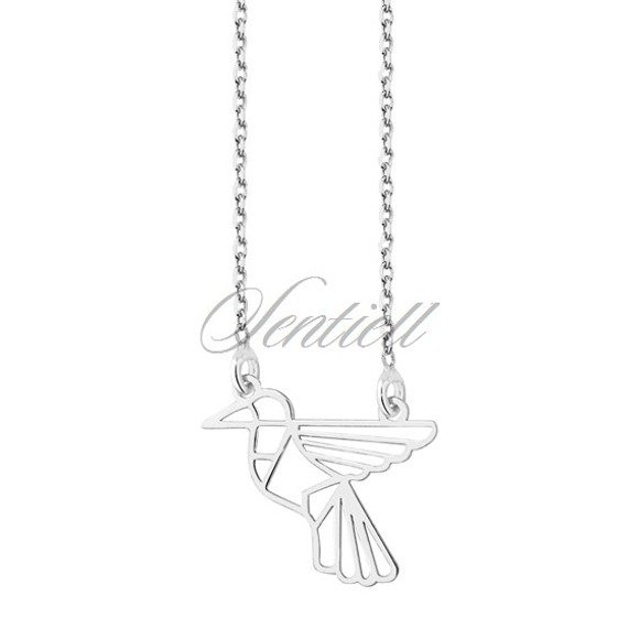 Srebrny naszyjnik pr.925 - Origami koliber