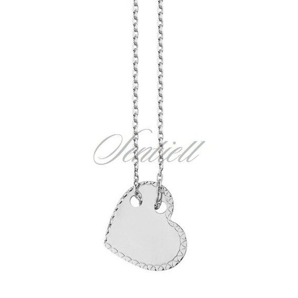 Srebrny naszyjnik pr.925 diamentowane serce