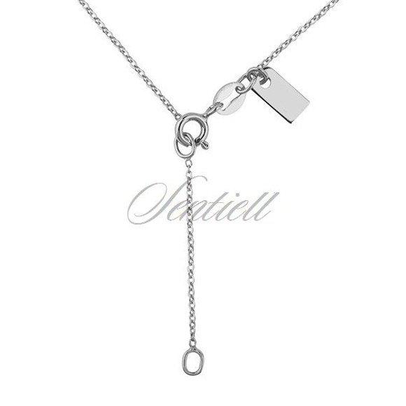 Srebrny naszyjnik pr.925 z zawieszką ażurowym kółkiem