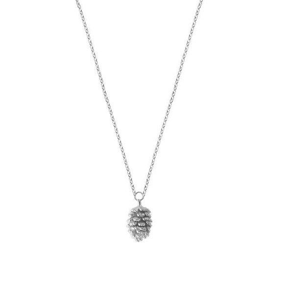 Szyszka - naszyjnik srebrny